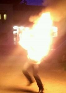 Bree on fire