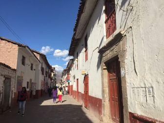 the streets of, Urubamba Peru
