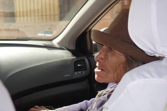 Lady on our way to Ollantaytambo,Peru