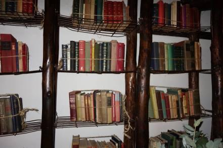 Library at Inkaterra Machu Picchu Puerblo Hotel, Peru