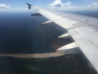 out the airplane window, Peur