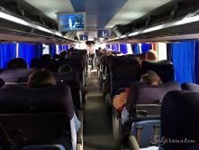 Bus ride in Peru