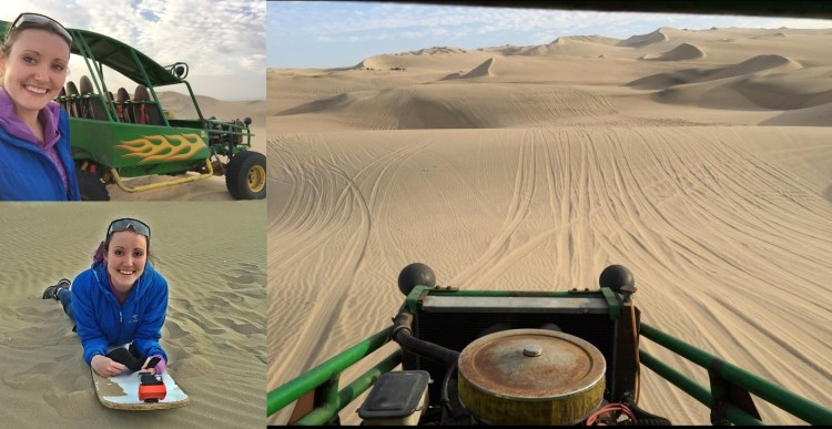 Huacachina - A wild buggy ride and sandboarding in the sand dunes just outside of Ica. https://www.youtube.com/watch?v=GVp0ns1oaes