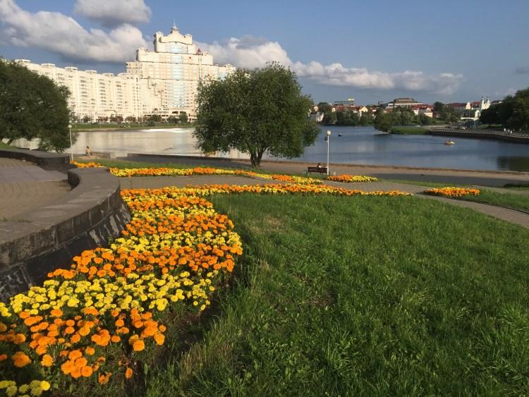 Gardens in the centre of Minsk.