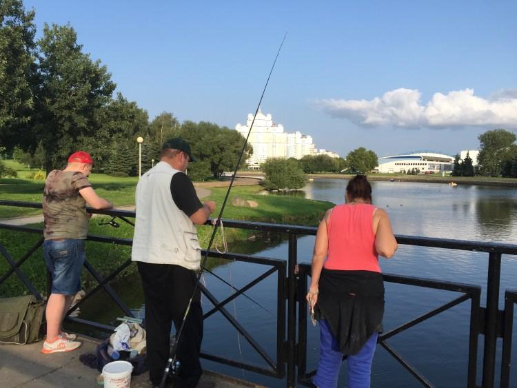 fisherman in Minsk.