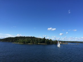 Cruising by ferry to Helsinki