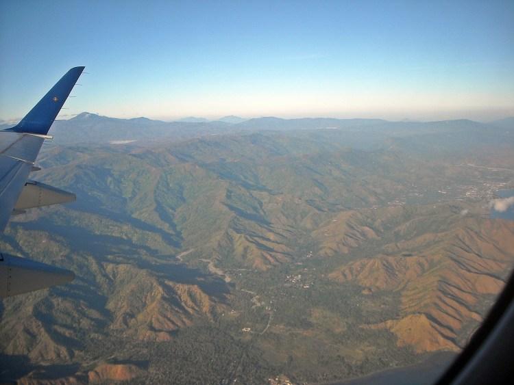 Flying above East Timor