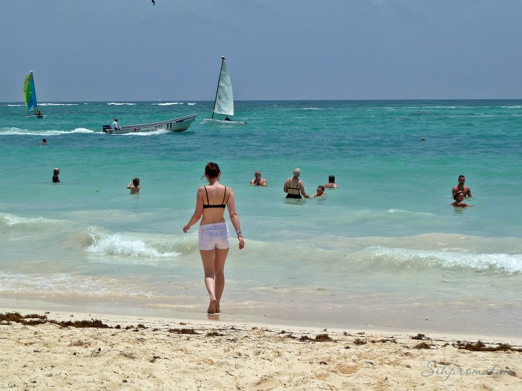 Punta Cana has such warm clear water.