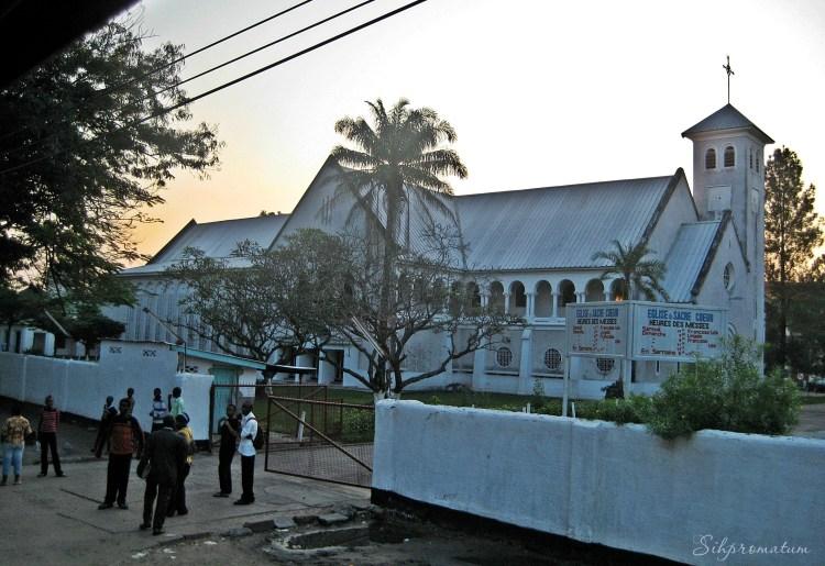 A small church in Kinshasa.