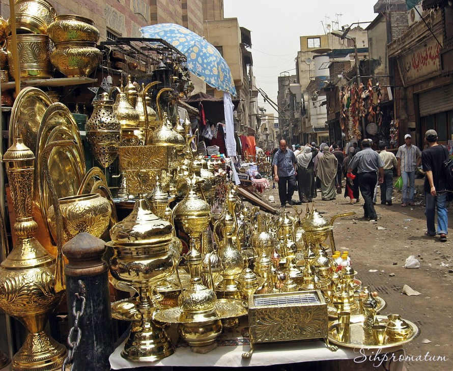 Shopping the street in Old town Cairo