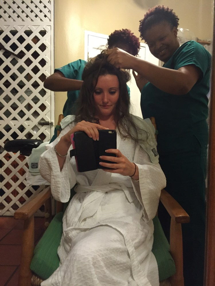 Being pampered
