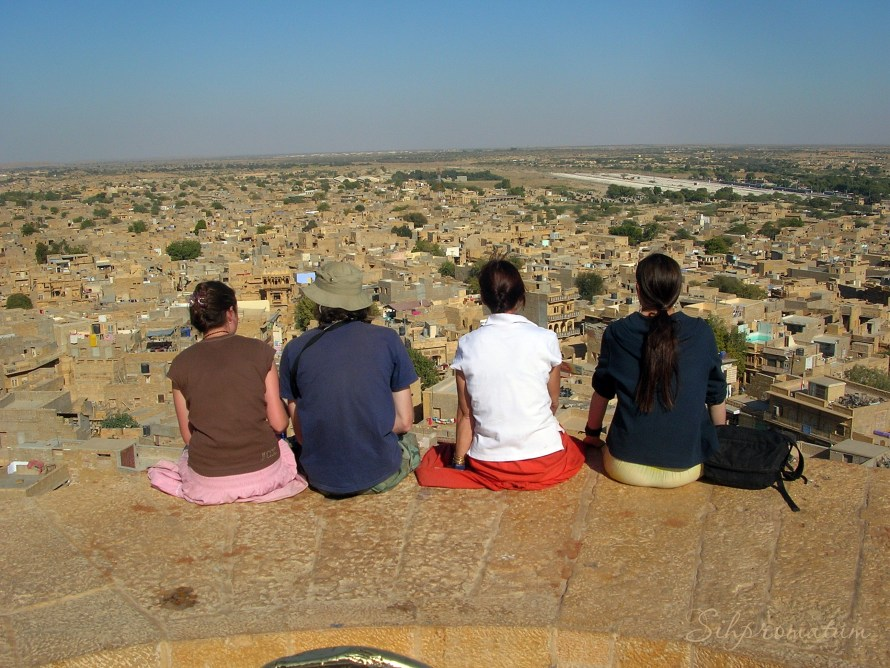 Looking over the city of Jaisalmer