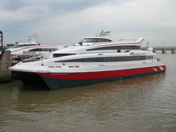 Boat between Hong Kong and Macau