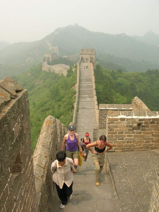 """In five hours, we'd conquered only ten of the Wall's 6,400km, and it really helped put things into perspective."" Great Wall of China"
