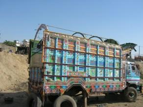Colourful trucks too