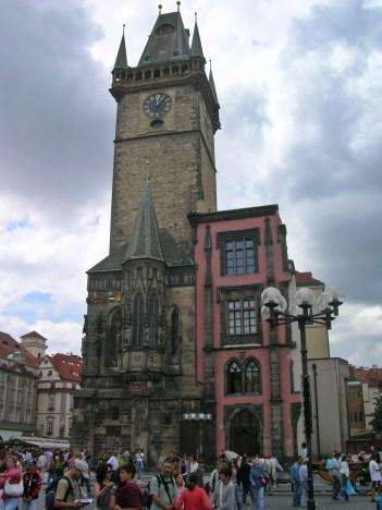 Town square famous clock - Prague