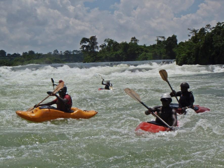Uganda, river rafting