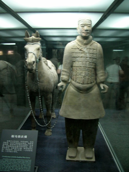 """""""Every single man was given different armour and features."""" Terracotta Warriors, Xi'an"""