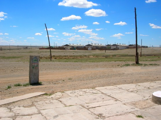 On our way to the capital, we needed diesel urgently and finally drove past a very small town. Our relief turned into consternation when we found that the whole town was deserted, including the gas station where we'd hoped to fuel up.