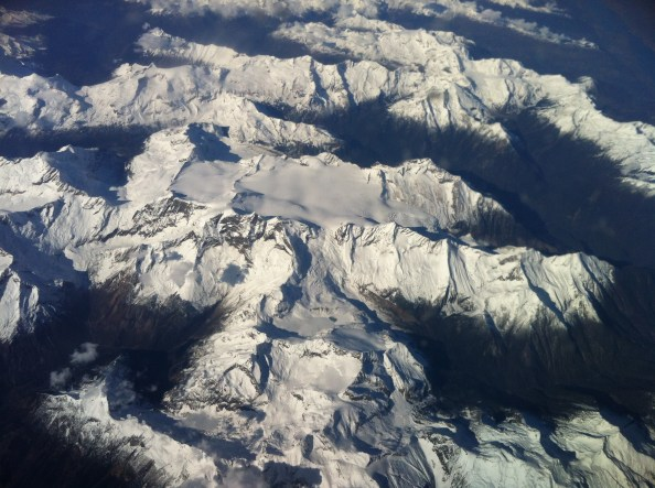 High over the Rockie Mountains