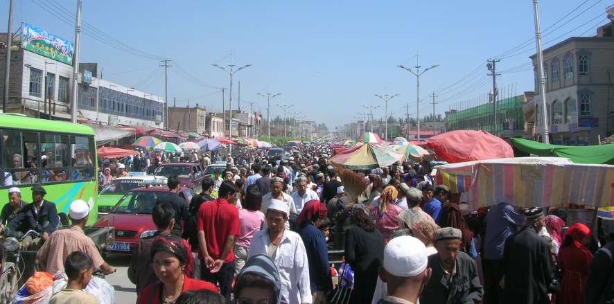 Market day in Kashgar, China