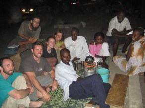 tea time on the street in Mauritania