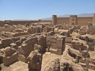 Rayen Fort ruins in the middle of nowhere between Kerman and Bam