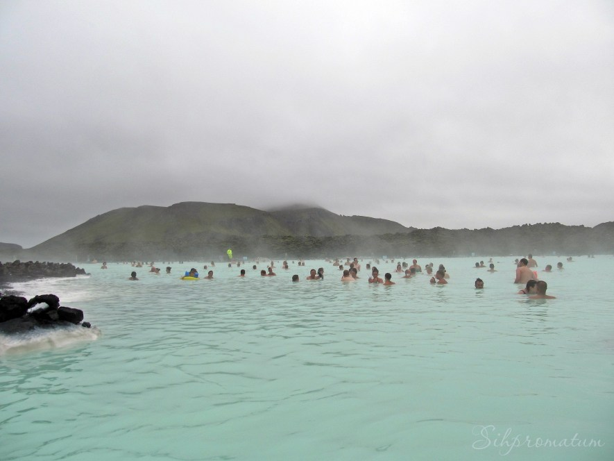 Blue Lagoon is a man made spa that is located in a lava field in Grindavík