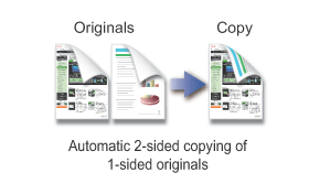 USING THE DOCUMENT GLASS FOR AUTOMATIC 2-SIDED COPYING