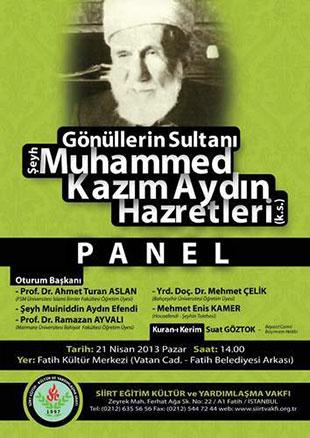 Şeyh Muhammed Kazım Aydın Hazretleri Paneli
