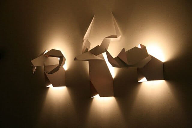 lampu kamar unik origam