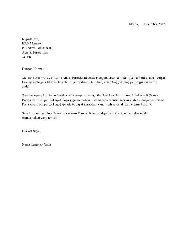 11 Contoh Surat Resign Pengunduran Diri Terbaru Yang Baik Dan Benar