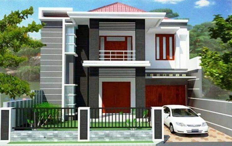 Gambar Rumah Minimalis 2 Lantai tampak dari depan