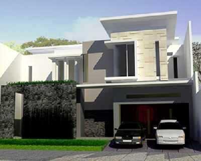 Desain rumah minimalis 2 lantai tampak dari depan