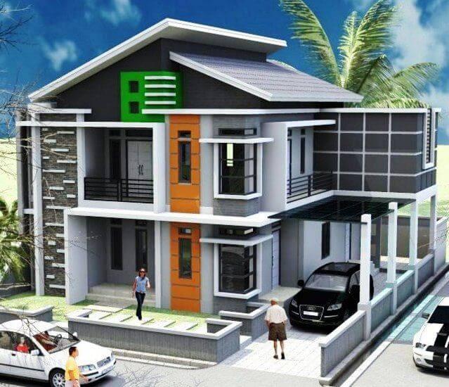 Model rumah modern desain minimalis berlantai 2