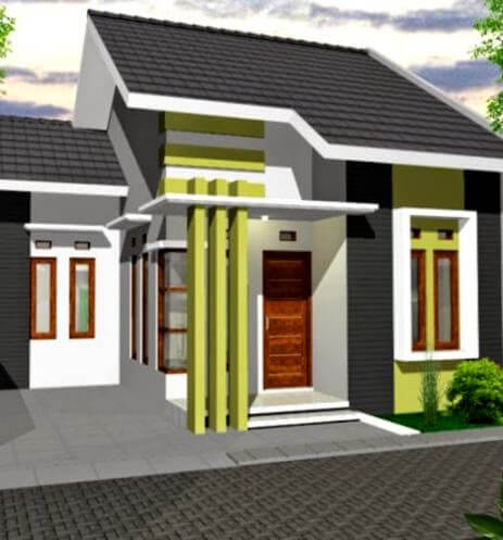 Model Rumah Minimalis Tampak Depan 12