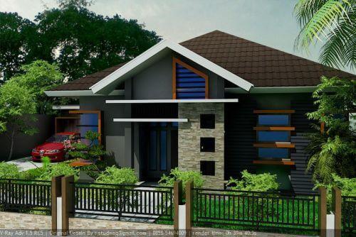 Model Rumah Minimalis Tampak Depan 8