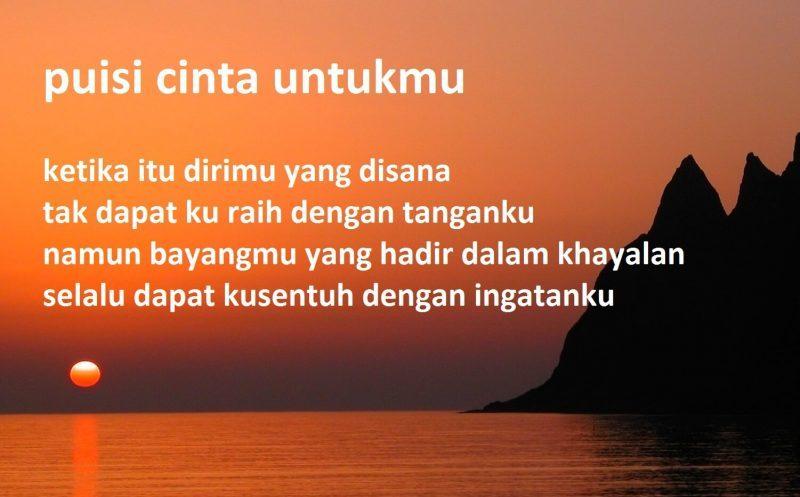 Kata Puisi Cinta Singkat