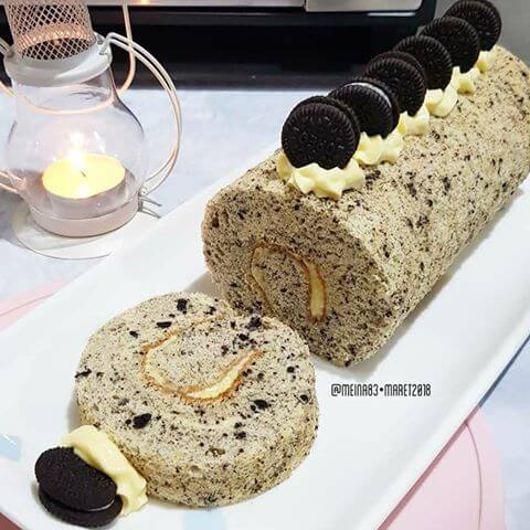 Resep oreo roll cake untuk buka puasa
