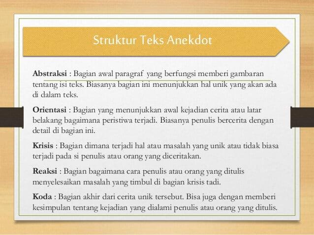 Struktur teks anekdot
