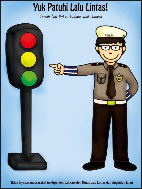 Patuhi rambu lalu lintas