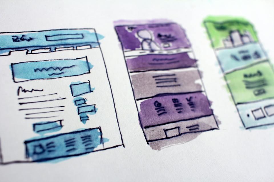 Image of design sketches