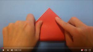 鶴の折り紙①
