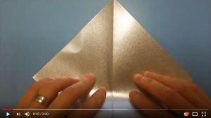 鶴の折り紙②