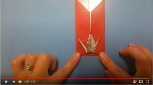 鶴の折り紙㉝