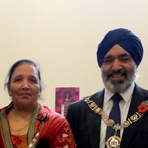 The Mayor and Mayoress, Cllr Hardial Singh Rai and Gian Kaur