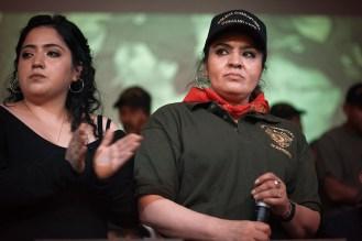 MARZO: Nestora Salgado, ex coordinadora de la Policia Comunitaria de Olinal‡, Guerrero, en conferencia de prensa tras su liberaci—n en el Centro de DDHH Miguel Agustin Pro. (Prometeo Lucero)