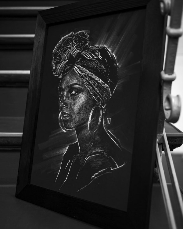 Alicia Keys - Original Drawing
