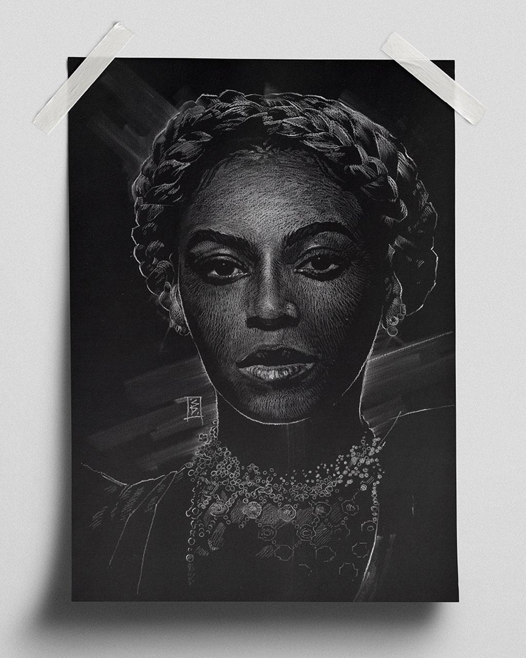 Beyoncé - Fine Art Print (Gliceé)