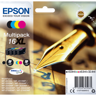 EPSON DURABRITE ULTRA INK CARTUCHO 16XL MULTIPACK 4 COLORES
